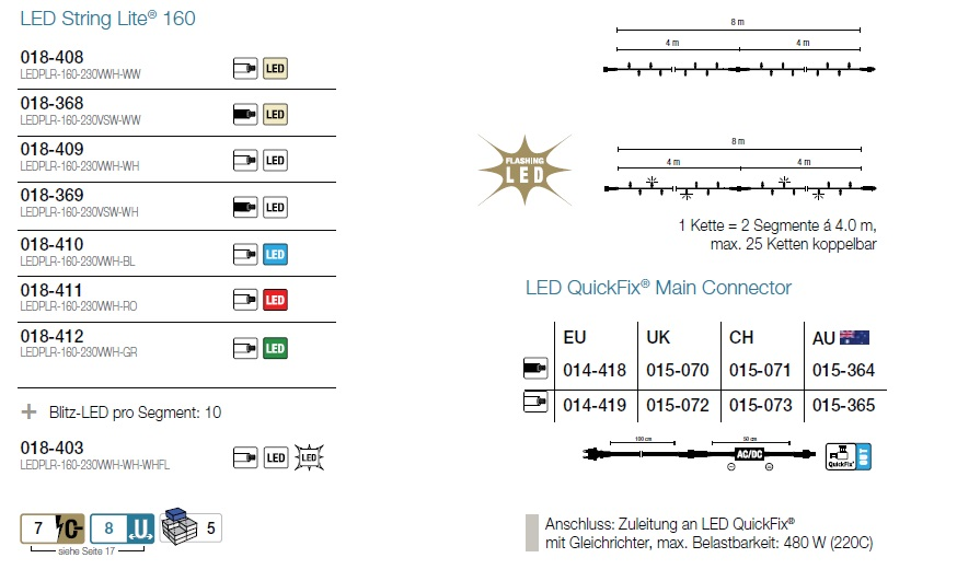 LED String Lite 8m